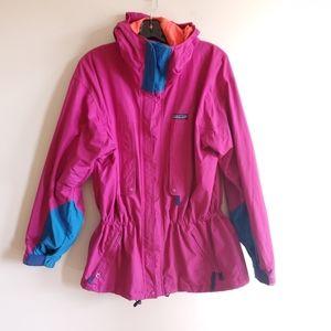 Vintage Patagonia light jacket, fuchsia and blue